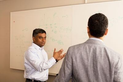 The new MS in Business Analytics, developed in part by IEOR chair Garud Iyengar (left), equips graduates with a deep understanding of data analytics and its practical applications.